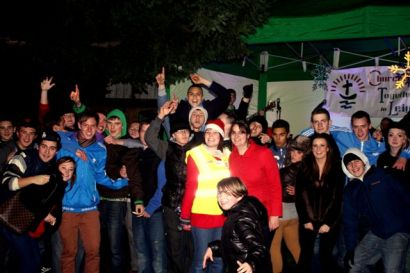 Church youth workers and volunteers light up Leigh