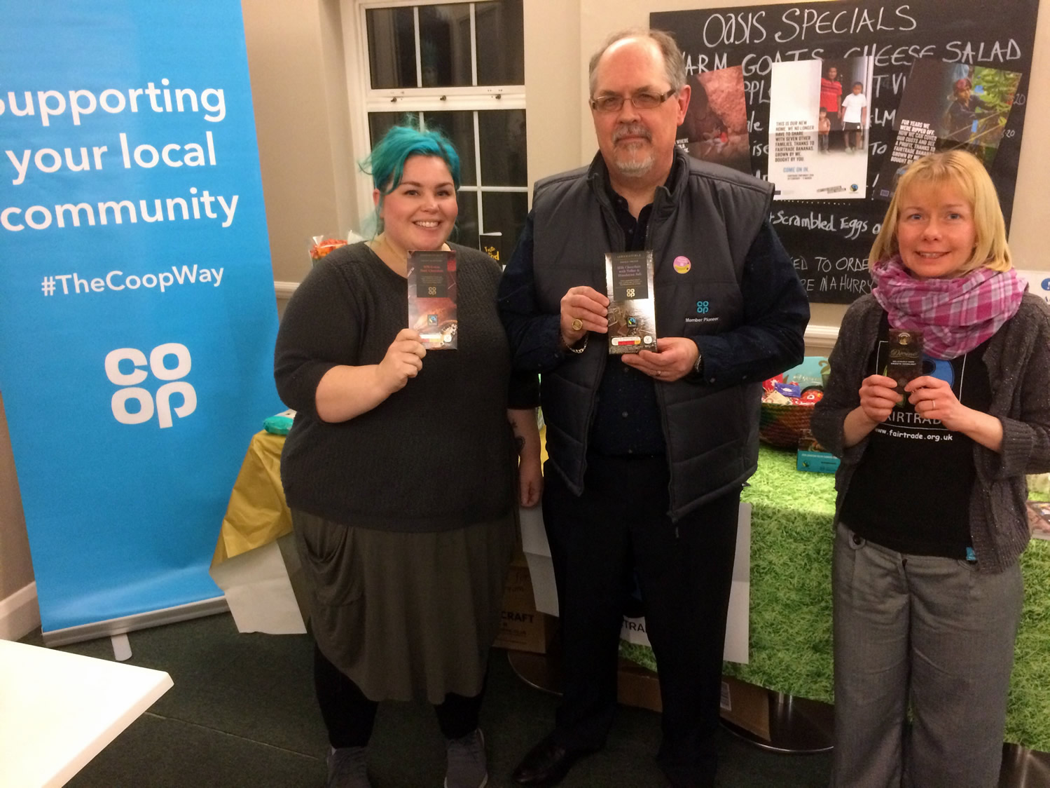 Fairtrade Foundation beats snow to Leigh-on-Sea bring the importance of Fairtrade to many lives around the world