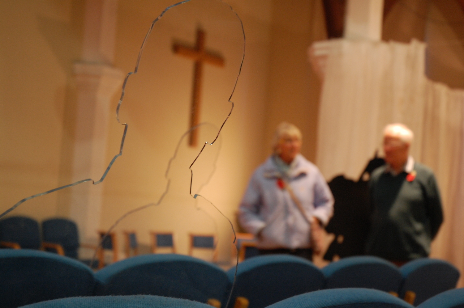 Hundreds visit church installation of transparent silhouettes of Remembrance