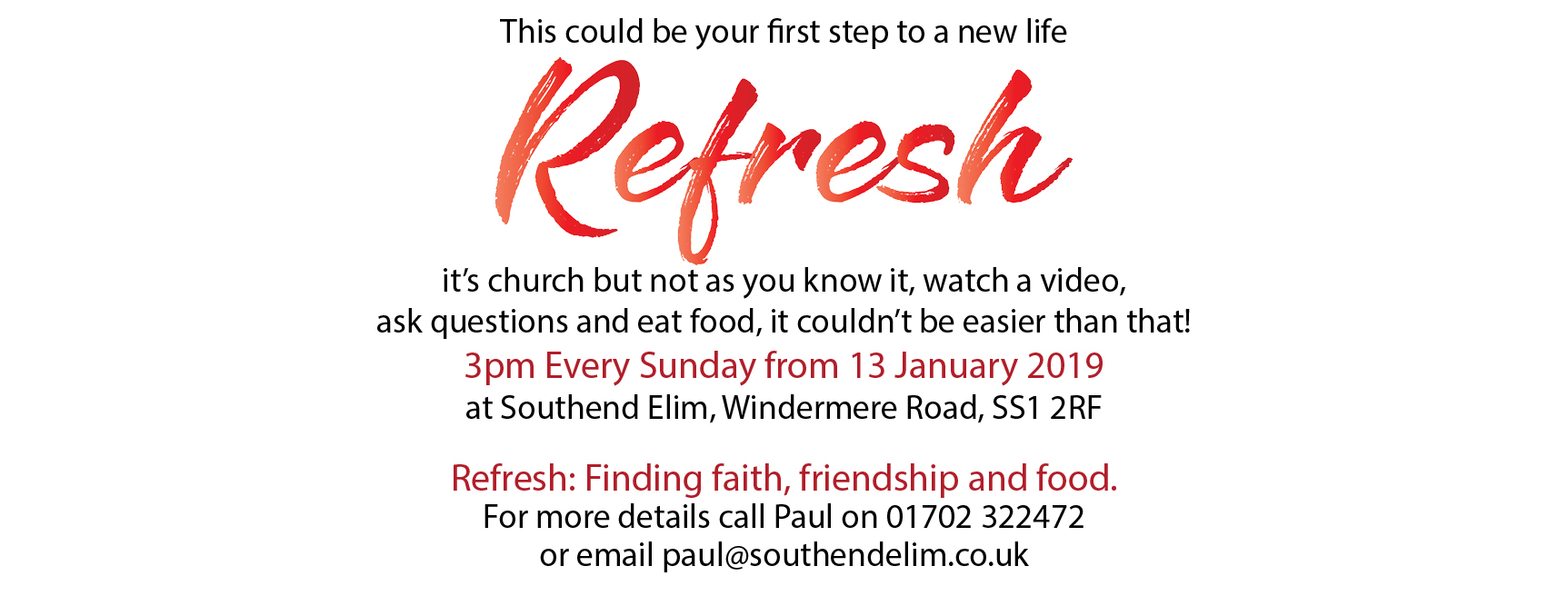 Refresh: Finding Faith, Friendship and Food