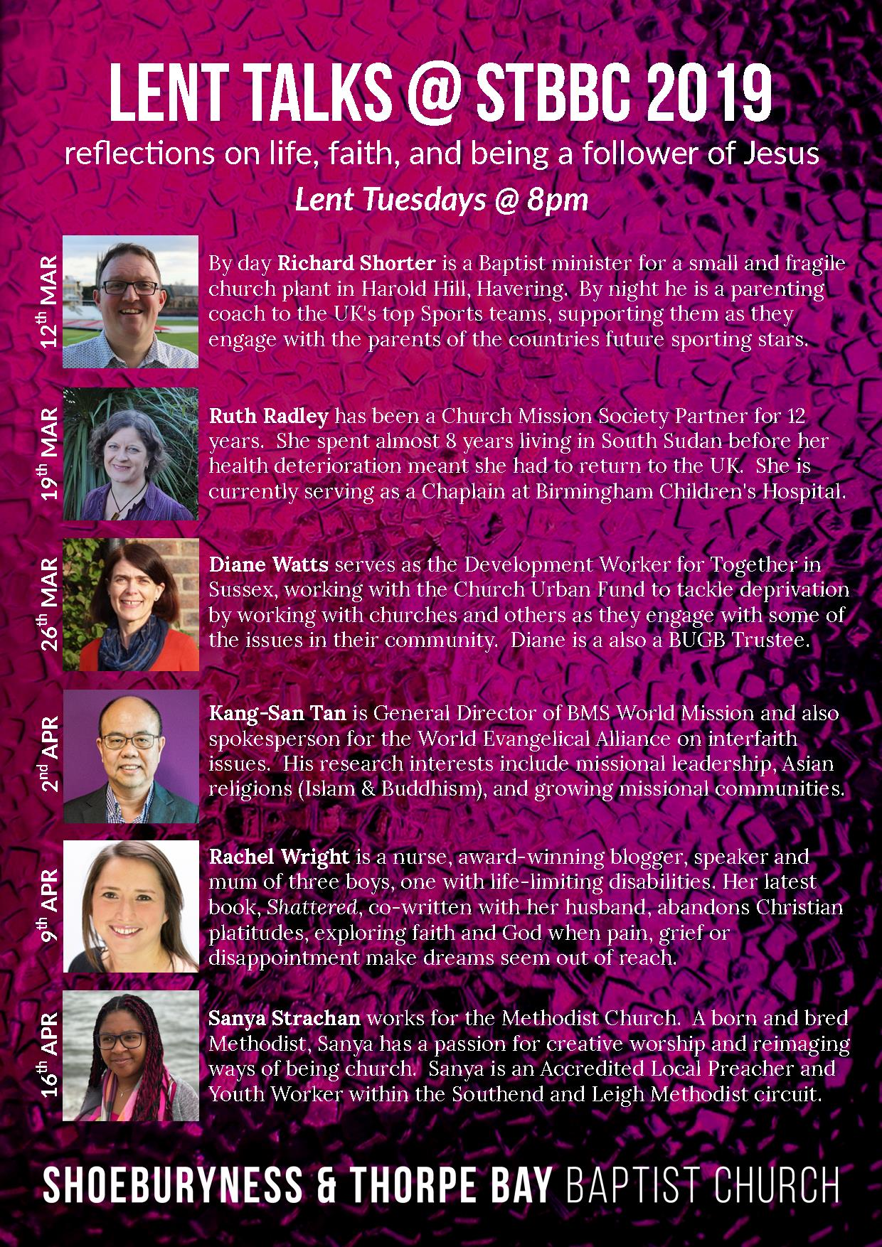 Lent Talks 2019