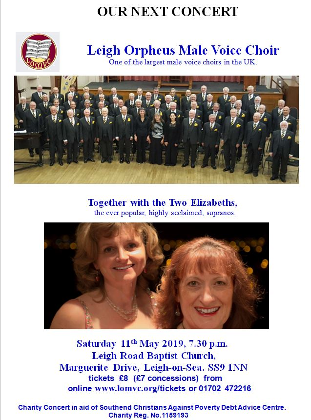 Charity Concert: Leigh Orpheus Male Voice Choir and the Two Elizabeths
