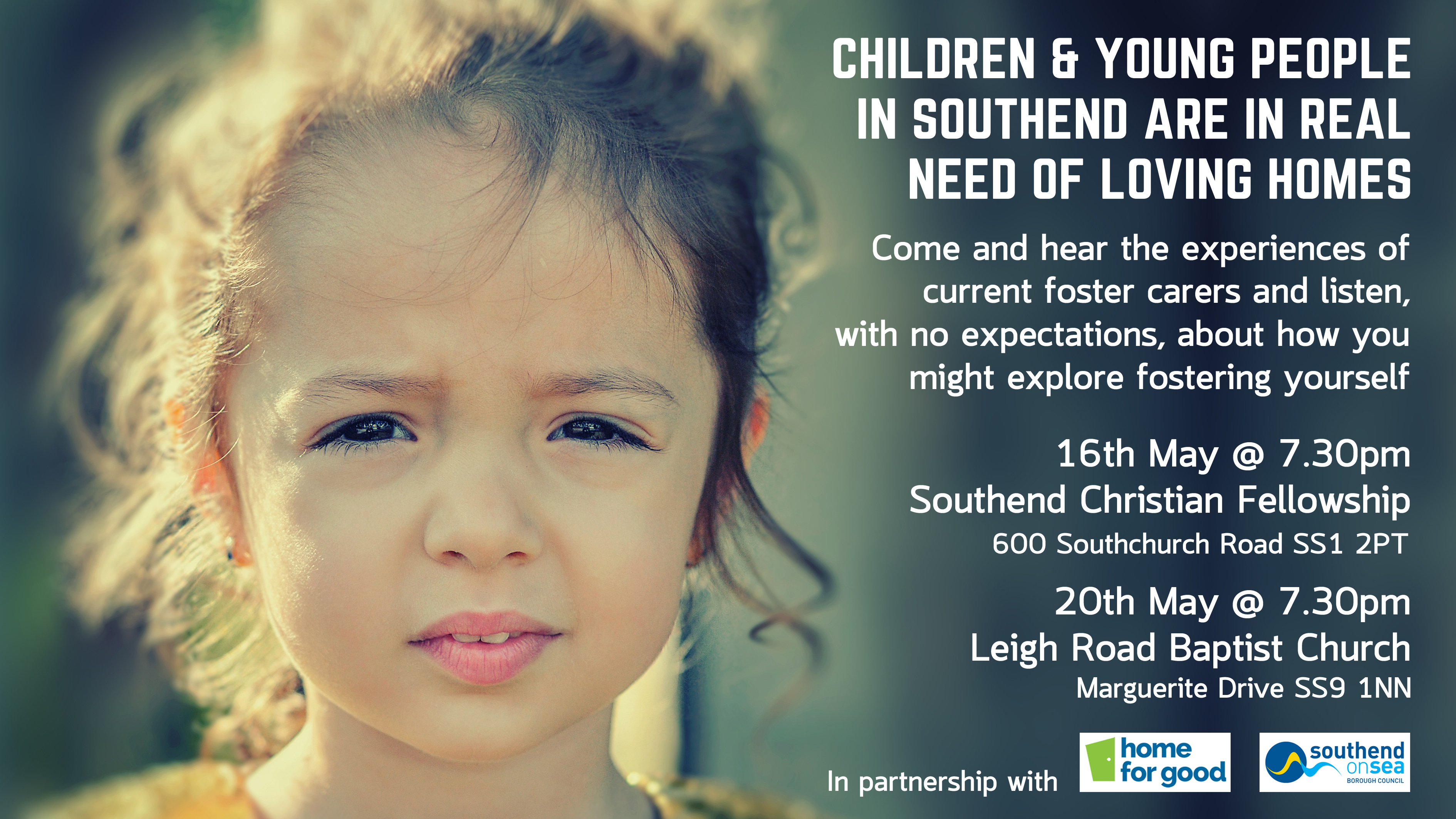 Children and young people in Southend-on-Sea are in real need of loving homes