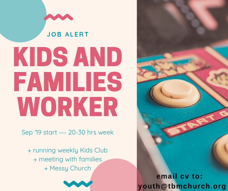 Job Alert: Kids and Families Worker