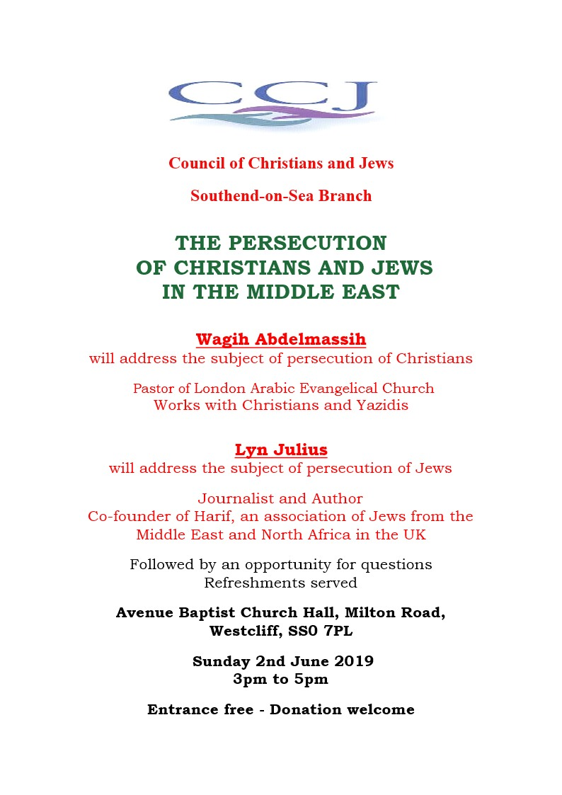 CCJ Persecution of Jews and Christians Conference