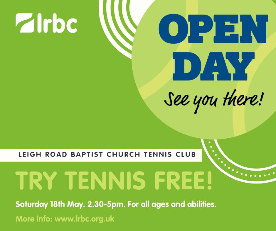 Leigh Road Baptist Church Tennis Club Open Day