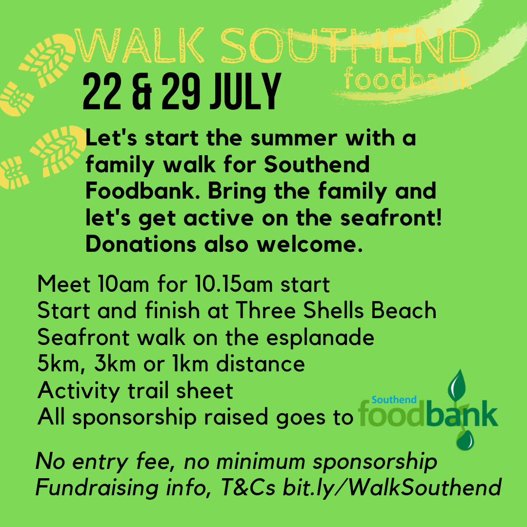 Seafront family walk for Southend Foodbank