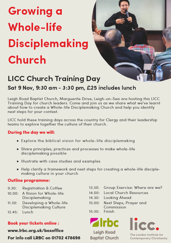 ext LRBC with LICC Training Day Sat 9 November 2019