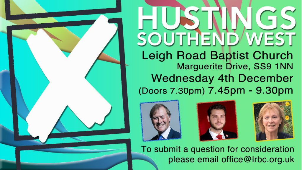 Southend West Hustings Event this Wednesday