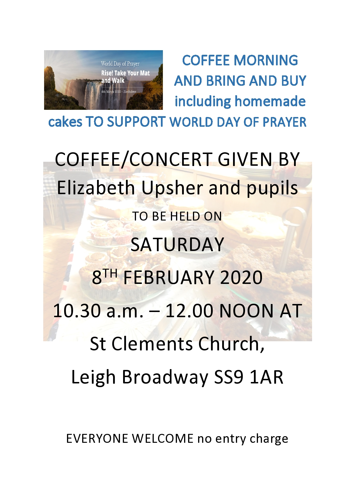 Coffee Morning, bring and buy and concert for the World Day of Prayer