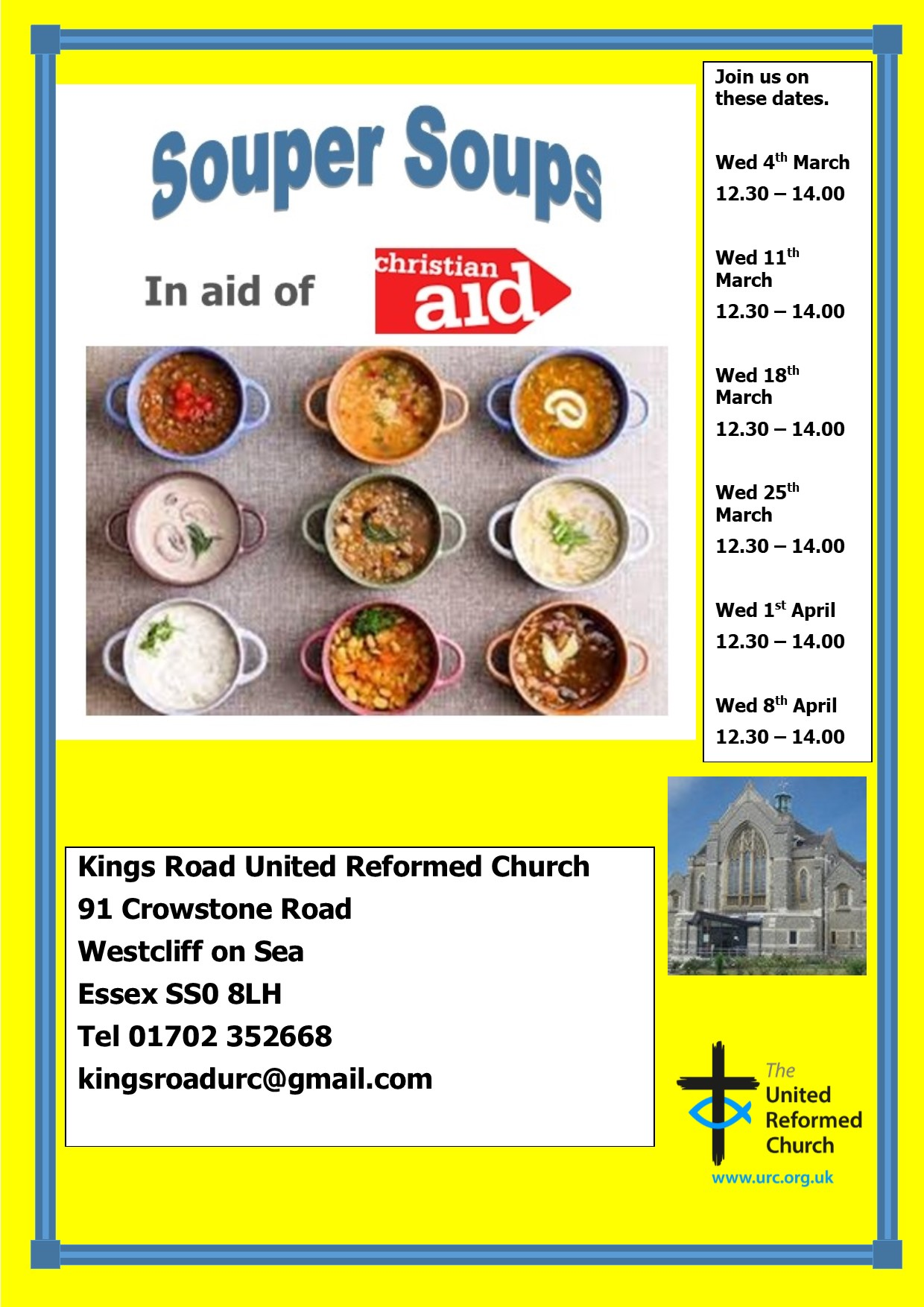 Souper Soups in aid of Christian Aid