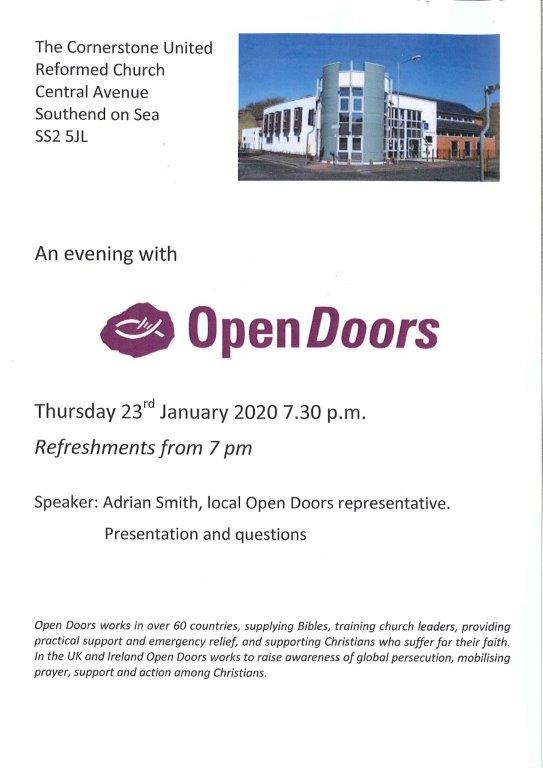 An evening with Open Doors