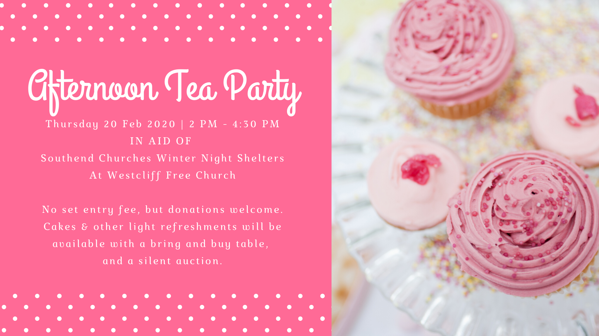 Afternoon Tea Party in aid of Southend Churches Winter Night Shelters