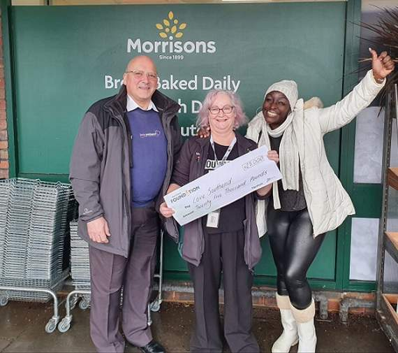 Love Southend Churches Winter Night Shelters receives minibus funds from Morrisons Foundation