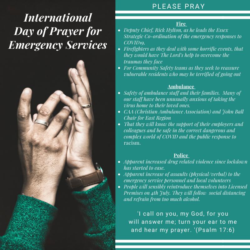 International Day of Prayer for Emergency Services