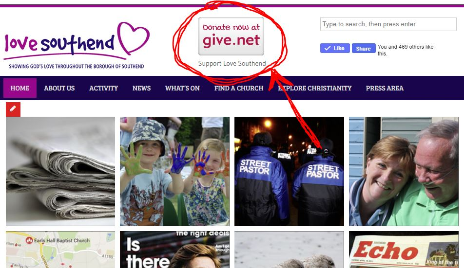 Donate to the work of Love Southend Online